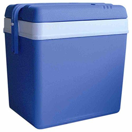 Geïsoleerde koelbox 24 liter volume, blauw.