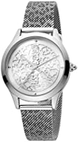 Just Cavalli Animalier Pelle Metal Watch JC1L170M0045 - Quartz Analog for Women in Stainless Steel Strap