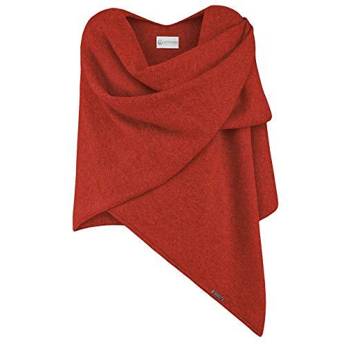 GIESSWEIN Merino Lambswool Poncho - eleganter Feinstrick Überwurf aus 100% Lammwolle, Merinowolle Cape für Damen, XXL Umhängetuch, leichter Poncho-Schal