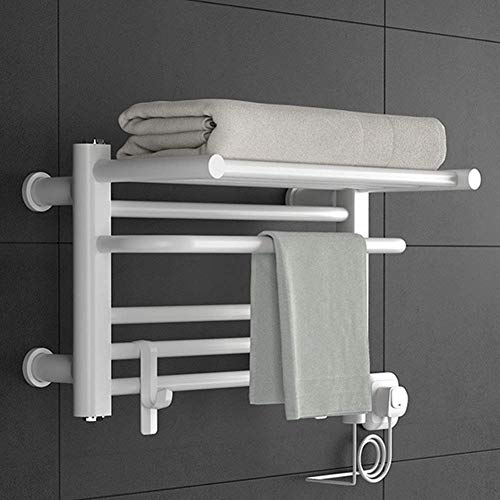 Allamp Calentador de Toallas Calientes, de Baja Potencia con Acero Inoxidable Marco Superior 304 for baño calentado Tendedero 11.81 * 19.68 Pulgadas / 200W