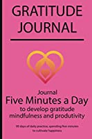 Gratitude journal: Journal Five minutes a day to develop gratitude, mindfulness and productivity By Simple Live 7107