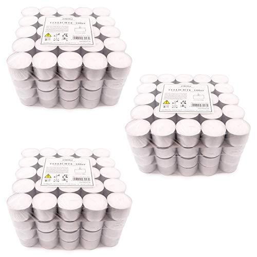 pajoma Teelichte unbeduftet 300 Stück, Brenndauer: 8 Std.