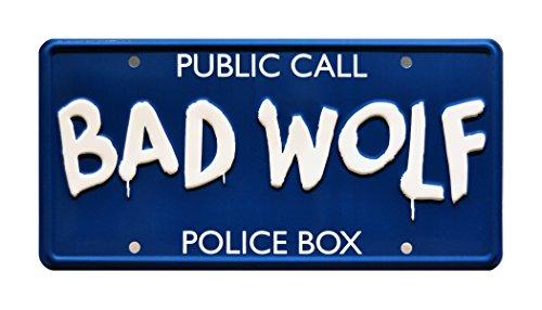 BAD WOLF   Metal Stamped License Plate
