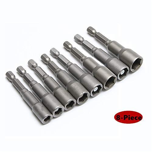 Industrial 8PCS Power Magnetic Screwdriver Nut Driver Set Impact 1/4