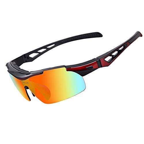 FANCYKIKI Radfahren Brille Fahrrad Farbwechsel Brille Erwachsene Outdoor-Brille Geeignet for Outdoor-Radfahren Liebhaber Cricket Fledermäuse Brille (Farbe : Bildfarbe)