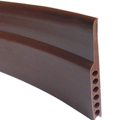 Alician 4,5 x 9,1 cm winddichte Schalldämmung Silikon Dichtungsstreifen für Tür Fenster unten braun