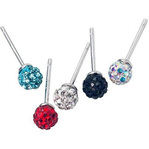 Thumby Oorbel Dangler Oorbel Oorbel S925 Zilveren Oorbellen Vrouwelijke Eenvoudige Volledige Diamant Bal Oorbellen Temperament Mannen en Vrouwen Kleur Oorbellen voor Vrouwen