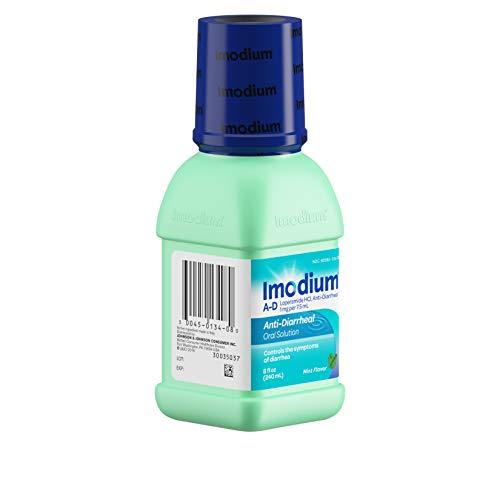 Imodium A-D Liquid Anti-Diarrheal Medicine with Loperamide Hydrochloride, Mint Flavor, 8 fl. oz