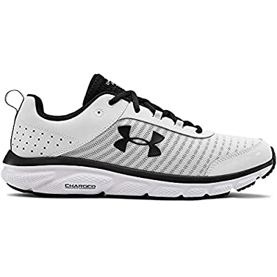 UNDER ARMOUR Men's Charged Assert 8 Running Shoe, White (102)/White, 11.5