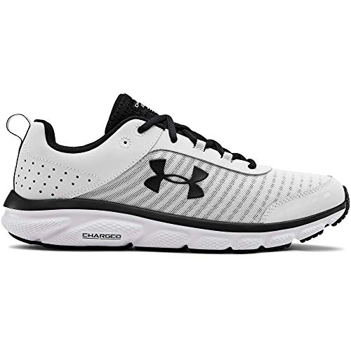 UNDER ARMOUR Men's Charged Assert 8 Running Shoe, White (102)/White, 9