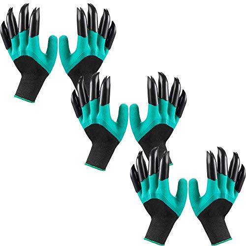 Garden Genie Handschuhe Krallen Wasserdicht Atmungsaktiv Gartenhandschuhe zum Graben Bepflanzen, Beste Gartenarbeit Geschenke für Frauen und Männer (3 Paar)