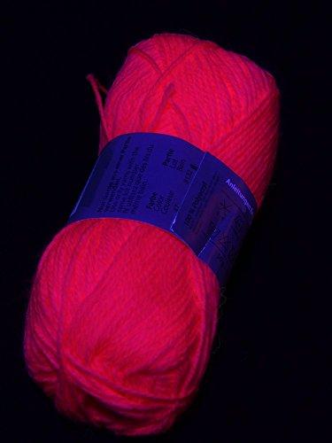 50g Schwarzlicht Wolle Rot