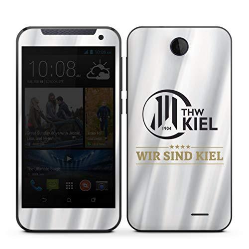Folie kompatibel mit HTC Desire 310 Aufkleber Skin aus Vinyl-Folie THW Kiel Handball Offizielles Lizenzprodukt