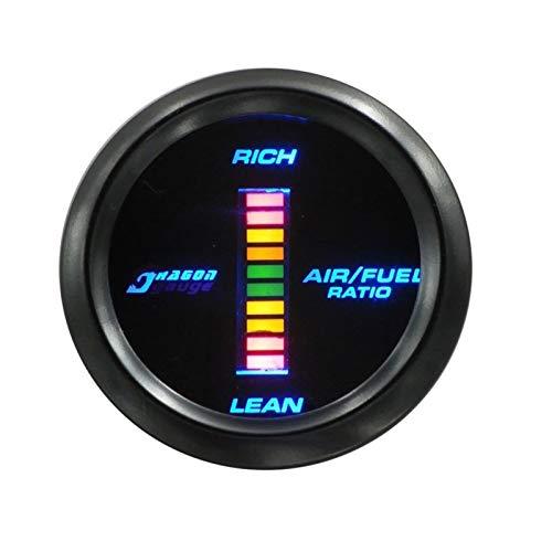 Auoeer 52mm de Coches Modificación del Aparato BLU-Ray tacómetro Digital, Indicador de presión, Agua Medidor de Temperatura, Aceite Medidor de Temperatura, presión de Aceite Gauge