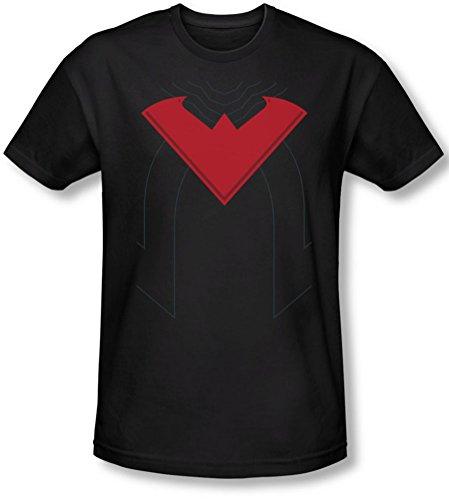 Batman - Herren 52 Nightwing Kostüm Slim Fit T-Shirt, X-Large, Black