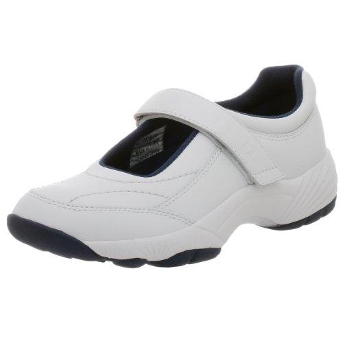 Propet Women's Mary Lou Mary Jane Sneaker,White/Navy,8.5 M (US Women's 8.5 B)