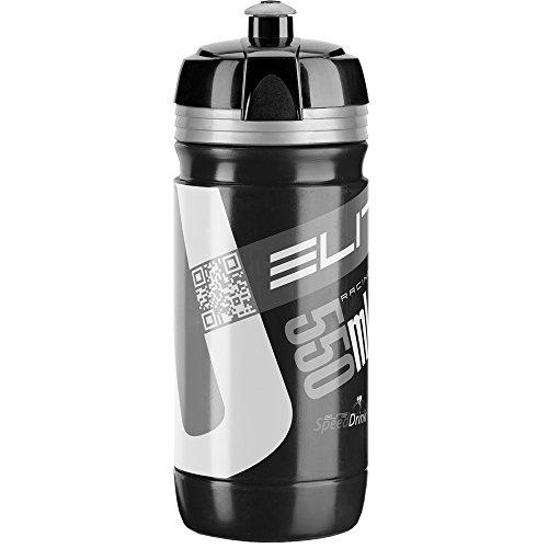 Elite Trinkflasche Corsa Schwrz, Schwarz/Silber, 550 ml