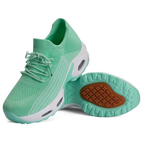Mishansha Slip on Air Walkingschuhe Damen Bequeme Fitnessschuhe rutschfest Hypersoft Sneakers Leicht...