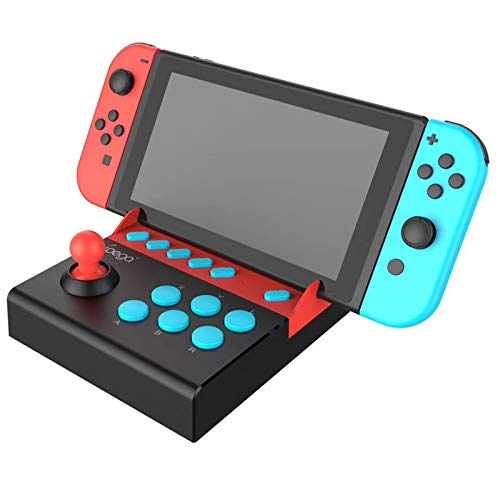 iPega PG-9136 Gamepad Joystick Single Rocker Control Trigger Controller Joypad for Nintendo Switch Game Console Like Mario Series, Street Fighter2, etc Classic Arcade Design