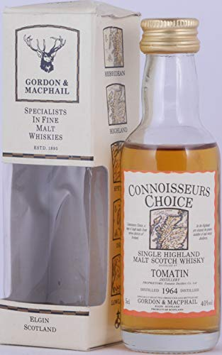 Tomatin 1964 30 Years Gordon & MacPhail Connoisseurs Choice Miniature Highland Single Malt Scotch Whisky 40,0% Vol. / 50 ml - seltene alte Miniatur-Abfüllung!