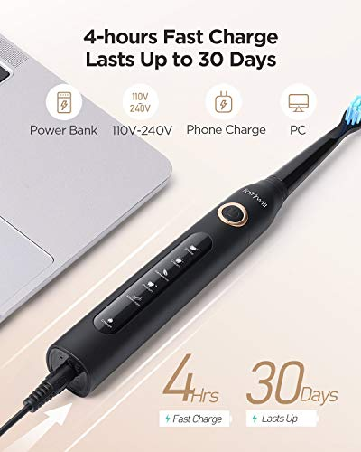 Fairywill Sonic Toothbrush,Electric Toothbrush Clean Teeth Like a Dentist Rechargeable