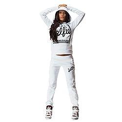 eshion Womens Pullover Hoodie Tracksuit Sweatshirt Sweatpant Set