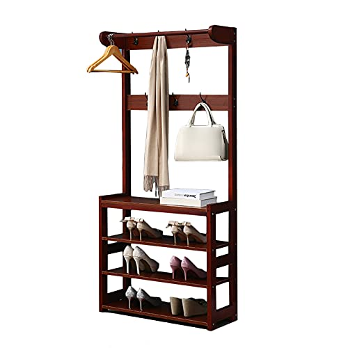 LM-Coat rack XINGLL Percheros Pie Perchero, Muebles Portátiles, Sala De Estar Entrada Pasillo Dormitorio Oficina Almacenamiento Colgador De Zapatos, Sombrero De Ropa Bolso Colgante