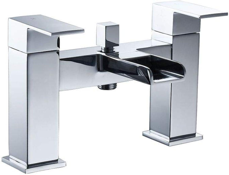 PZXY Wasserhahn Home Badewanne Wasserhahn dreifach Wasserfall Wasserhahn heien und kalten Wasserhahn mischen