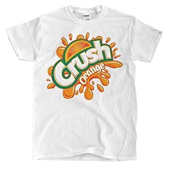 Crush Orange - White T-Shirt  XL