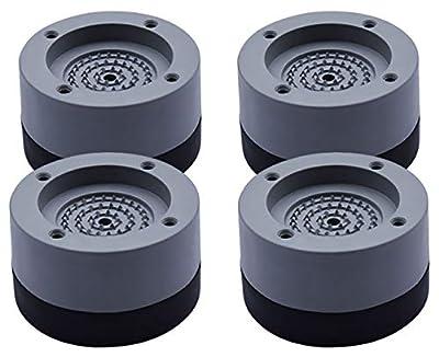 Kitchen-dream 4PCS Washing Machine Foot Pads Anti Vibration Washer Feet Pad Anti Slip Rubber Foot Pad for Washing Machines and Dryers