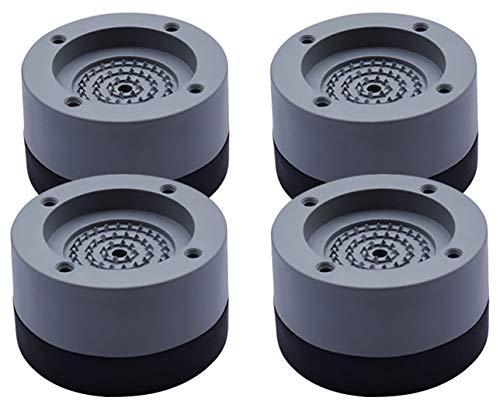 KtdaysB 4 STÜCKE Waschmaschine Fußpolster Anti Vibration Waschmaschine Füße Pad Anti Rutsch Gummi Fußpolster für Waschmaschinen und Trockner