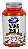 NOW Sports Nutrition, AAKG (Arginine Alpha-Ketoglutarate) 3500 mg, Amino Acid, 180 Tablets