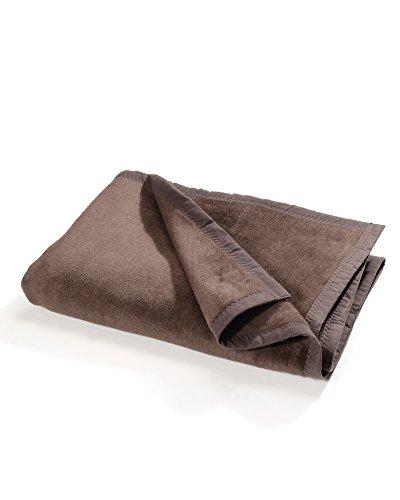 myHomery Uni Kuscheldecke - Decke fürs Sofa - Wolldecke warm & kuschelig - Sofadecke XL Braun | 150x200 cm