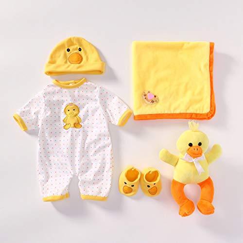Terabithia 4 Diversi Stili Accessori per Vestiti per Bambole Adatto a Bambole Neonate 20-22 Pollici Reborn Baby Doll Tutti i Set di Vestiti in Cotone