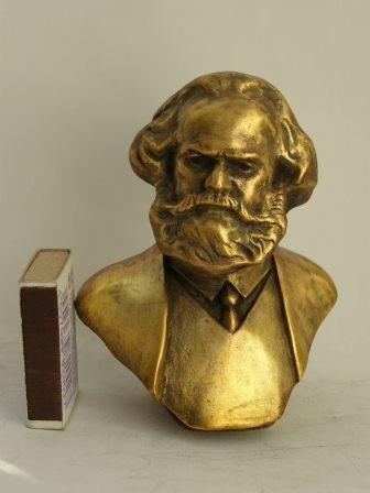 Unbekannt Lieder Kommunistische Deutschland Karl Marx Metall Büste Lenin Statue H = 11cm