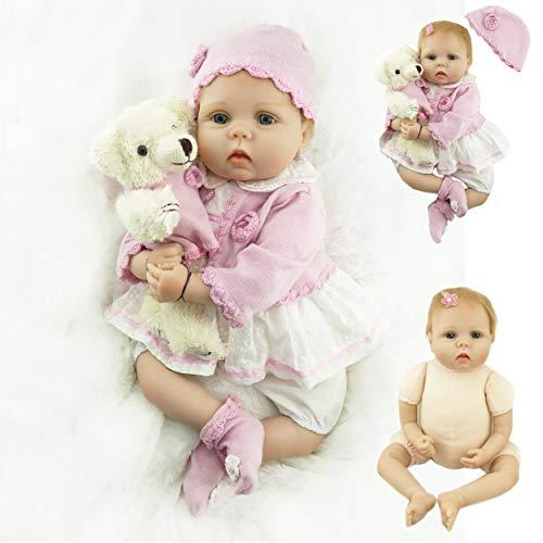 ZIYIUI Muñecas Reborn Reales Silicona 22 Pulgadas 55cm Realista Bebes Reborn Niña Suave de Silicona Vinilo Recién Nacido...