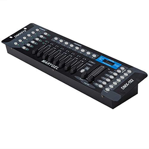 MARYGEL 192 CH DMX 512 Controller, Dmx Console for Stage Lights,Dj Lights, Par Lights, Moving head lights, Pubs, Disco.