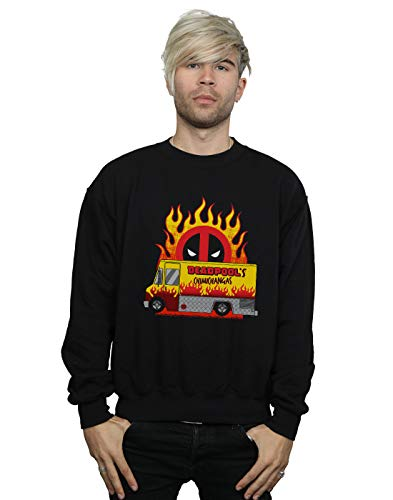 Marvel Hombre Deadpool Chimichangas Van Camisa De Entrenamiento Negro Large
