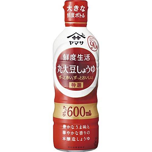 鮮度生活 特選丸大豆しょうゆ 600ml