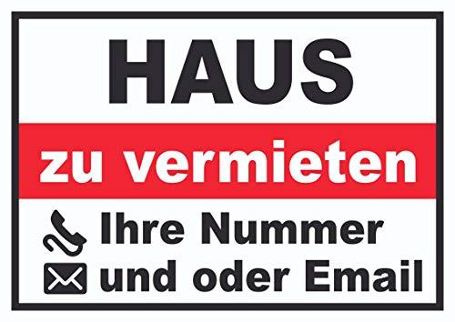 HB-Druck Haus zu vermieten Schild A3