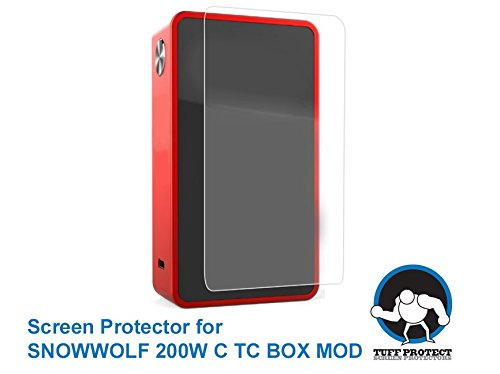 Tuff Protect Clear Screen Protectors for SNOWWOLF 200W C TC Box MOD Touch Screen, High Clarity, 3 pcs