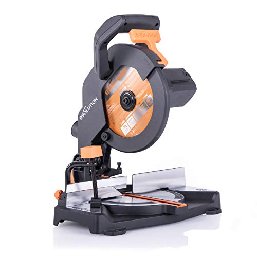 EVOLUTION POWER TOOLS R210CMS Sierra ingletadora fabricada de un compuesto multimaterial, 230 V, 210 mm