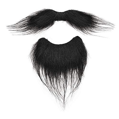 Bristol Novelty - Set de barba y bigote postizo para disfraz (Tamaño Único) (Negro)