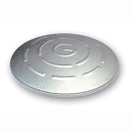 Betriebsausstattung24® Alu-Markierungsnagel | Mit Schaft | Rund | Durchmesser 10,0 cm | Aluminium | 1 VE = 10 Stück (10, ohne Schaft, zum Aufkleben)