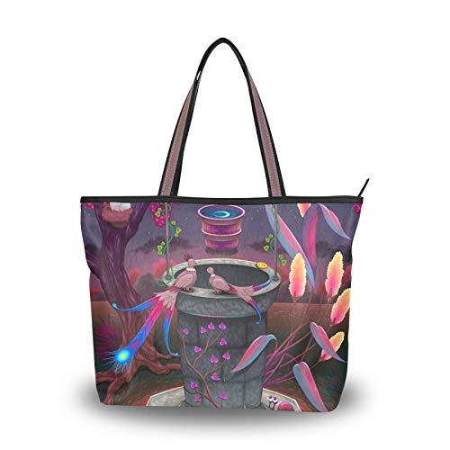 Shoulder Bags Handbags Purse Shopping Light Weight Strap Magical Garden Tote Bag for Women Girls Ladies Student