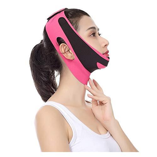 Face Lifting Belt Elastic Face Slimming Bandage V Line Face Shaper Women Chin Cheek Lift Up Belt Facial Anti Wrinkle Strap Face Care Slim Tools (Color : Pink)