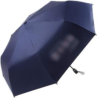 傘女性二重使用折りたたみ日傘テキスト日焼け止めUV防止2名利用可能 (色 : 青)