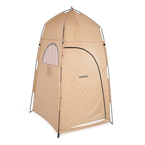 TOMSHOO Portable Outdoor POP UP Shower Tent Shelter Camping Beach Privacy Toilet