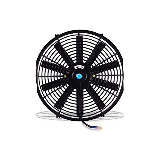 "(Pack of 2) Universal 14"" Electric Radiator Cooling Fans Slim Push Pull 12V 80W Engine Fan with Mount Kit(Diameter 13.98"" /14.76"" Depth 2.76"")"