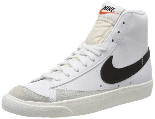 Nike Blazer Mid '77 VNTG, Chaussures de Basketball Homme, Blanc (White/Black 000), 44.5 EU